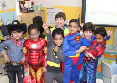 Students dressed up for fictional character Day