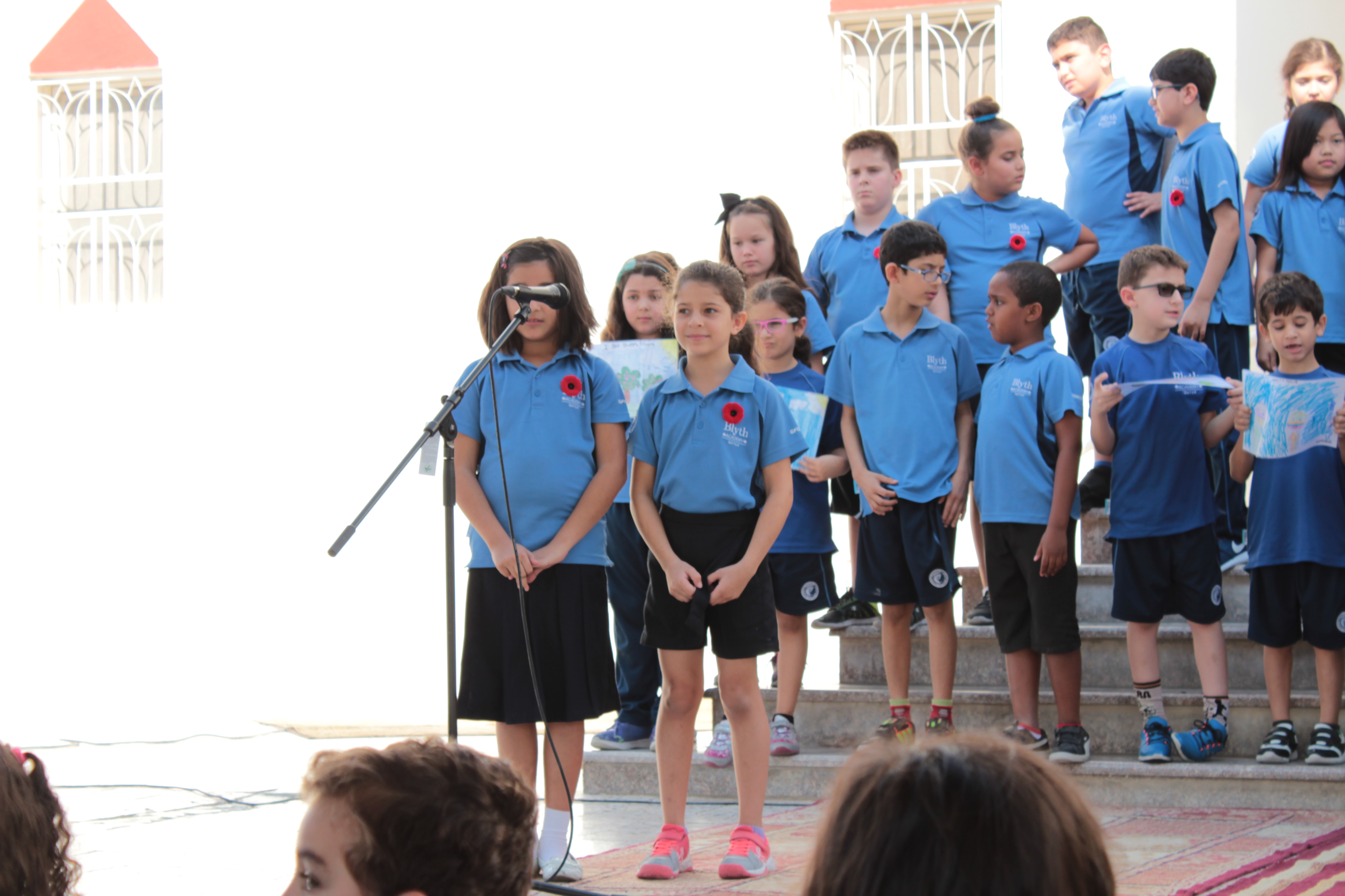 Students performing on Peace Day at Blyth Academy Qatar