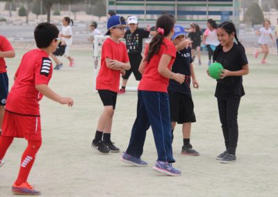 students playing hand ball