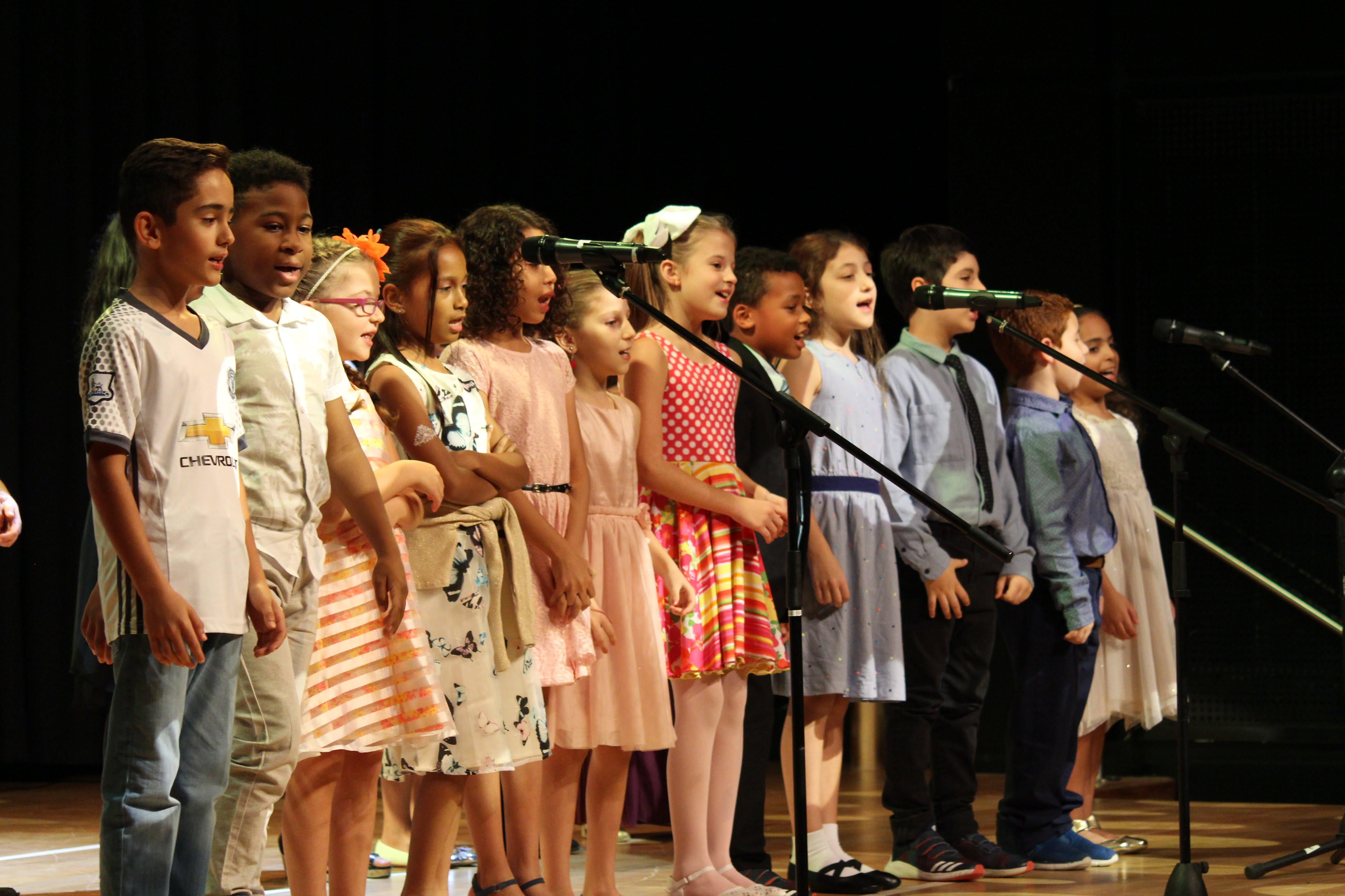 Blyth Academy Qatar students on stage
