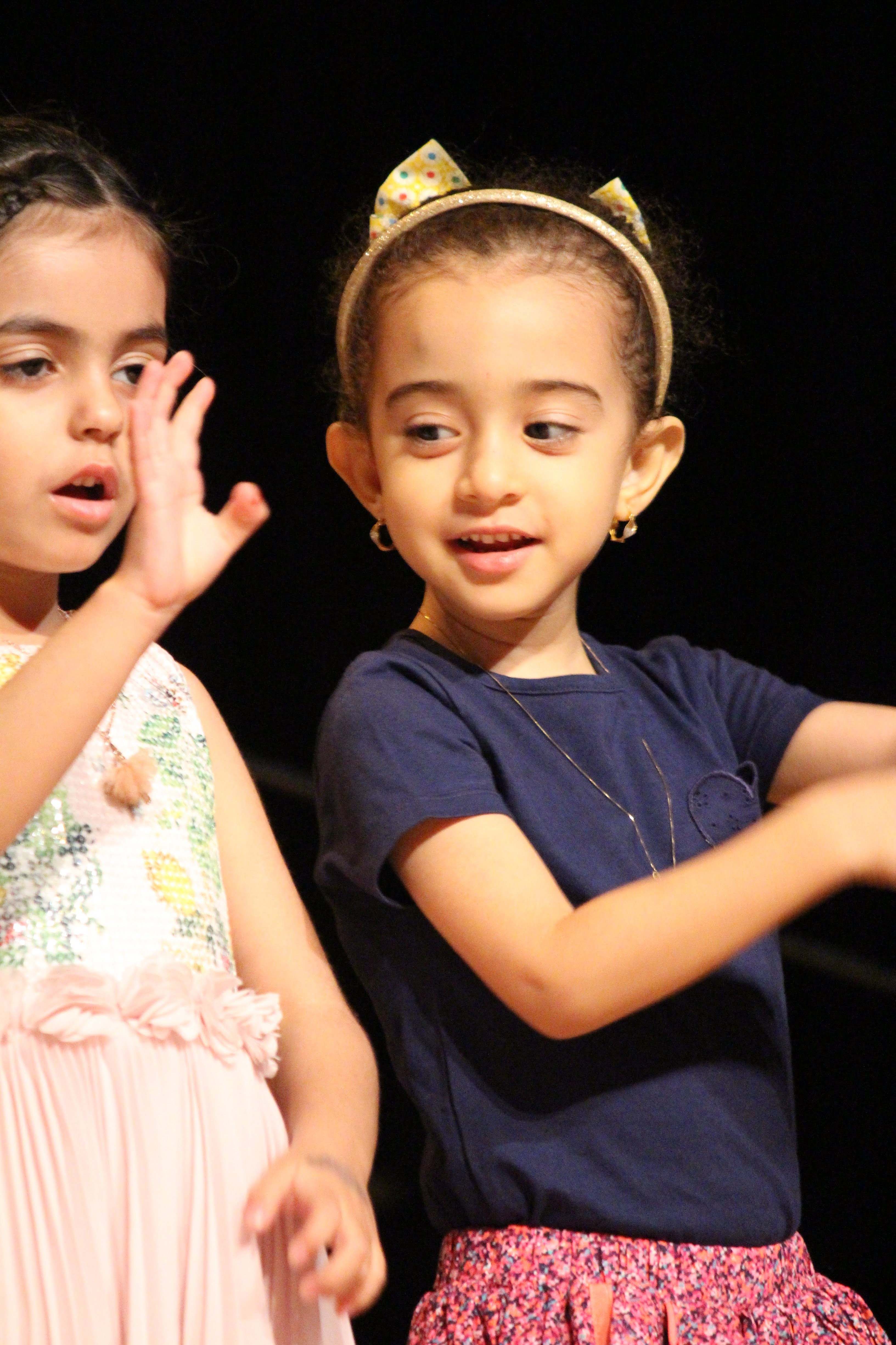 Primary students on stage at spring concert