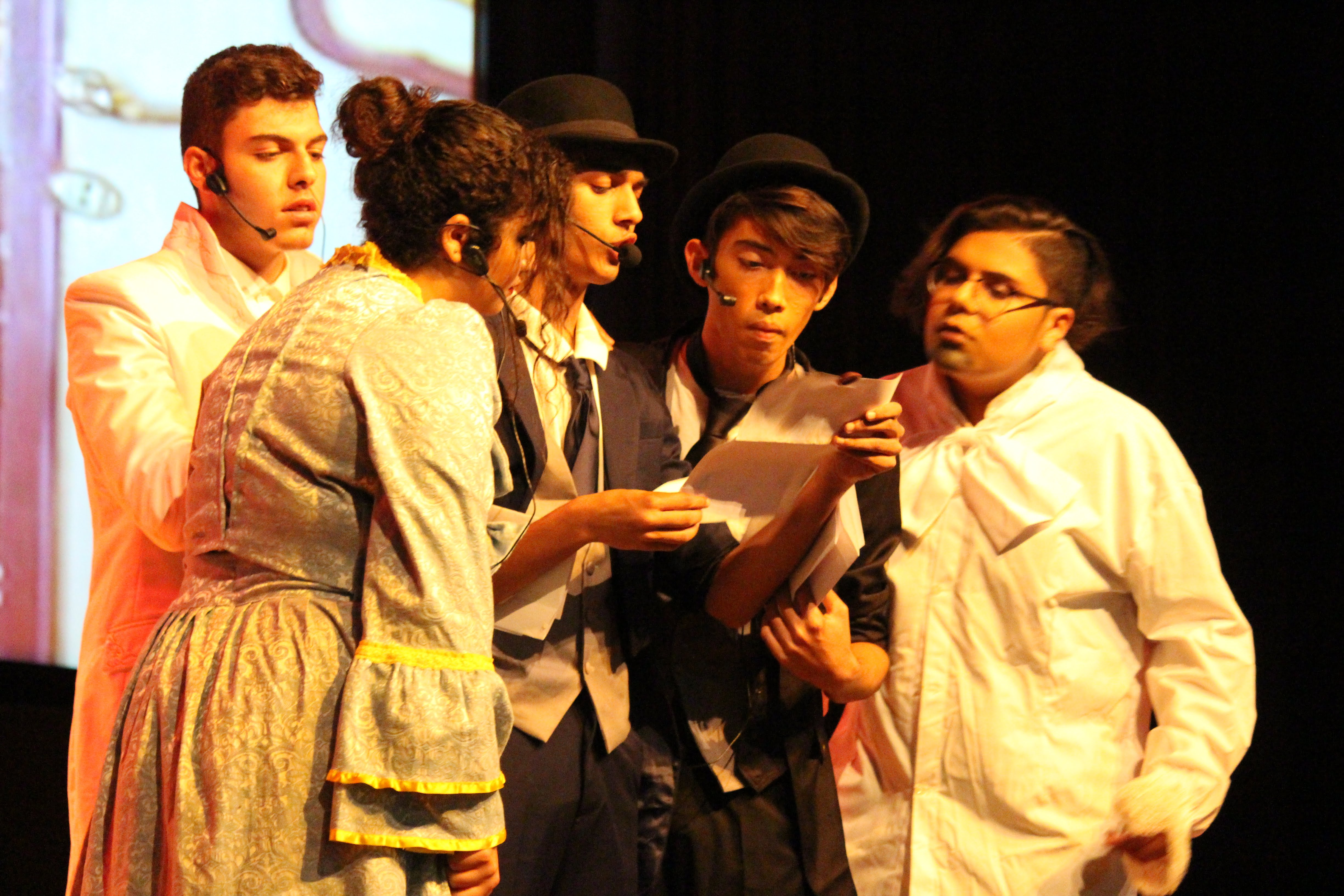 students on stage at spring concert